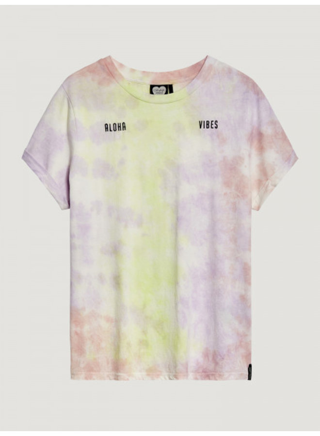 T-shirt lazy days pastel neon tie dye