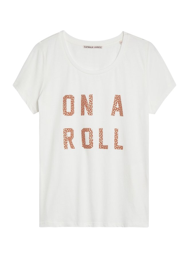 T-shirt roller off white