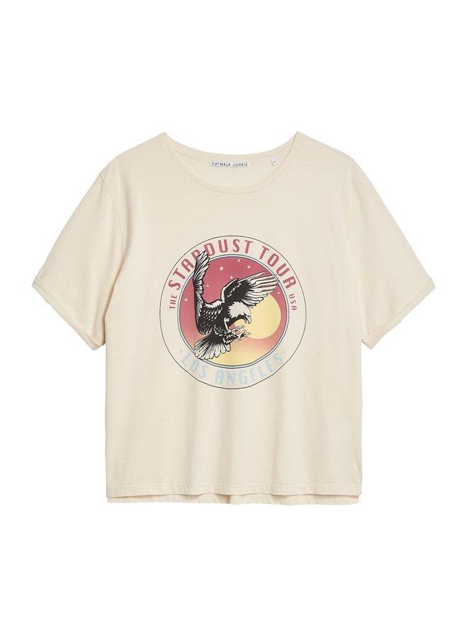 T-shirt eagle eye white sand