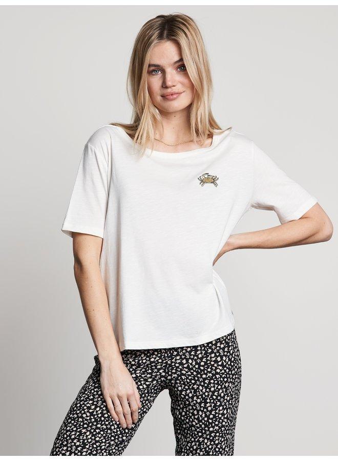 T-shirt crab it off white