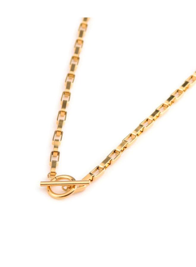 Big Chain Gold Neckless - KSK172-Gold
