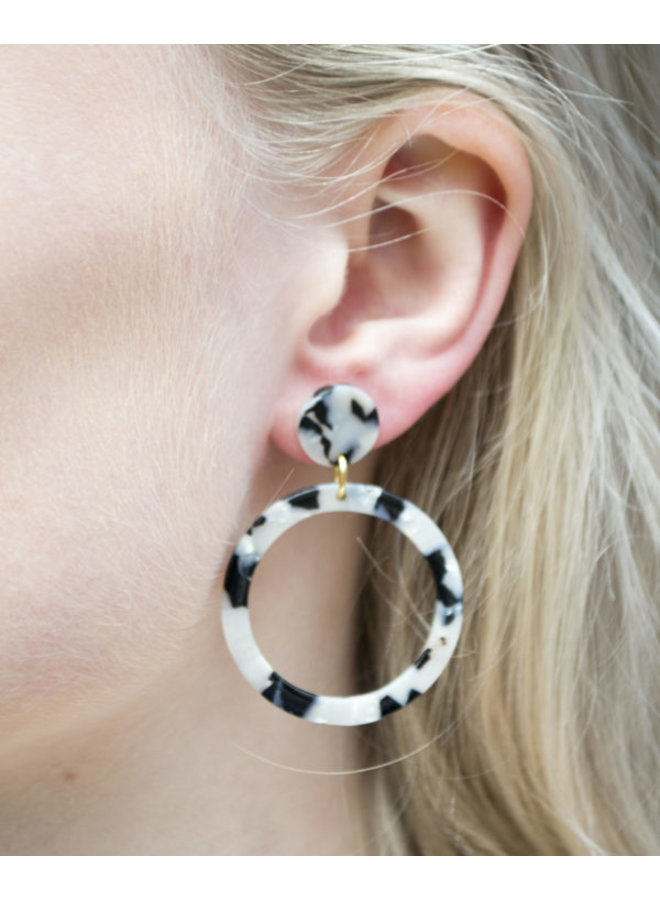 Black White Round - KEX11-BLACK