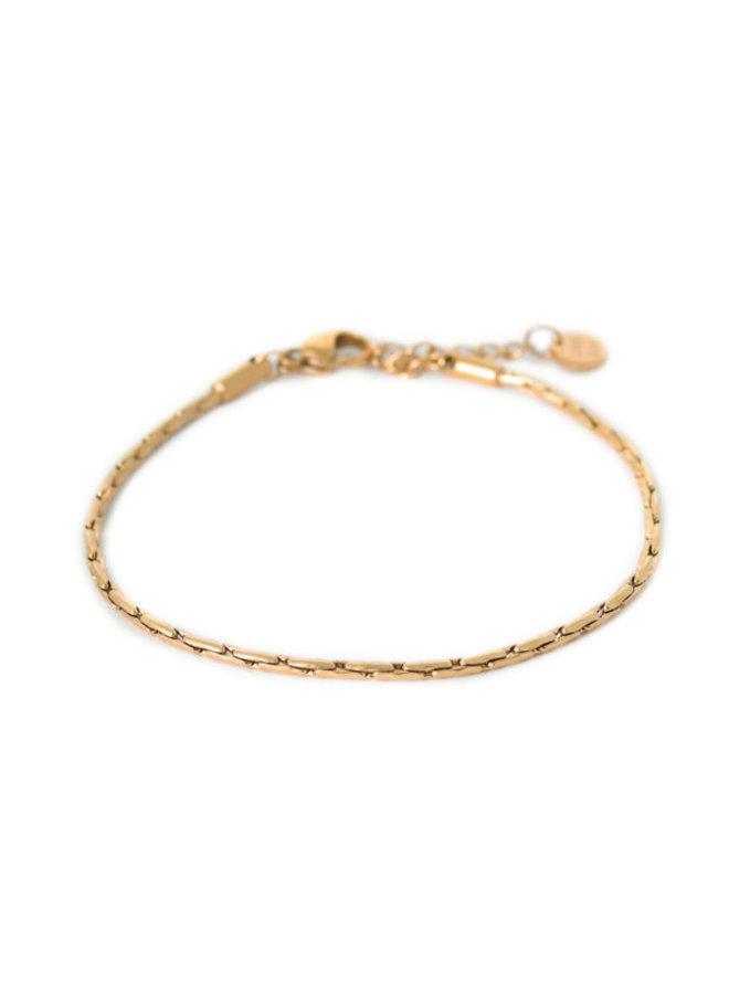 Brickwork Bracelet Gold - KSA581-Gold