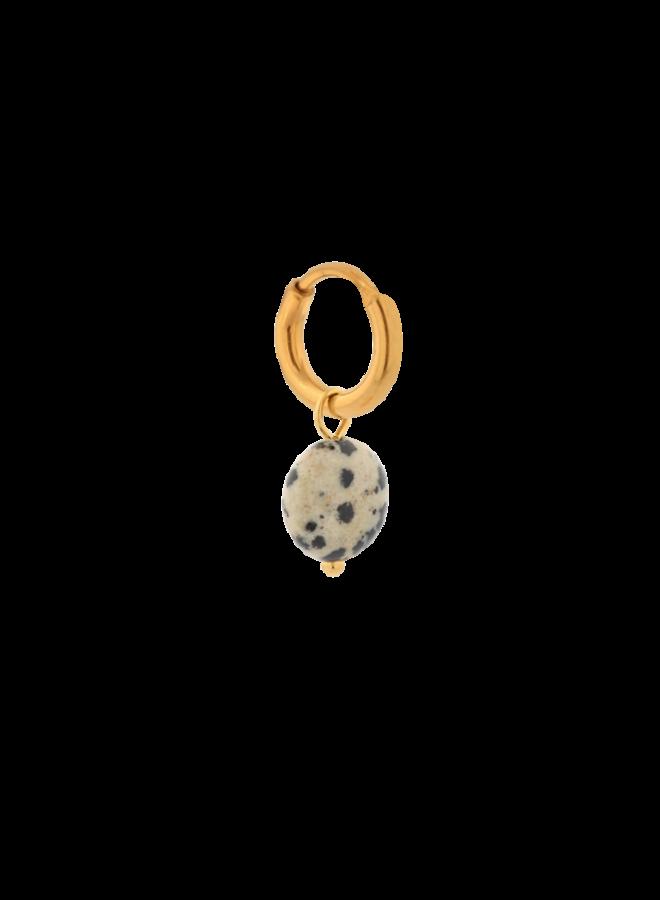 Dalmatian Round Hoop Gold - KSH141-GOLD