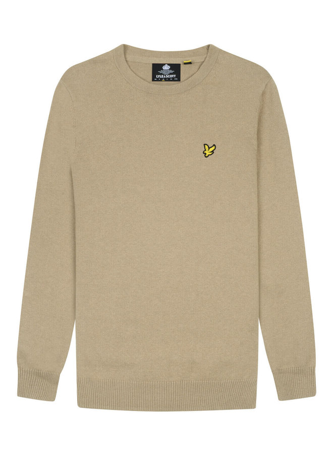 Crew Neck Cotton Sand Storm - KN400VC-W122
