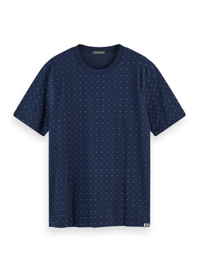 Classic Jersey Crewneck Tee All Over Pattern