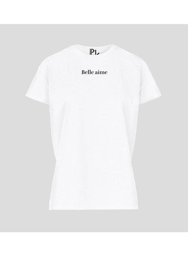 Belle Aime Tee S/S White - 03317-White