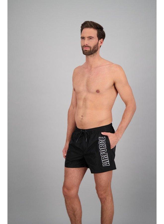 Outline swimshort true black white