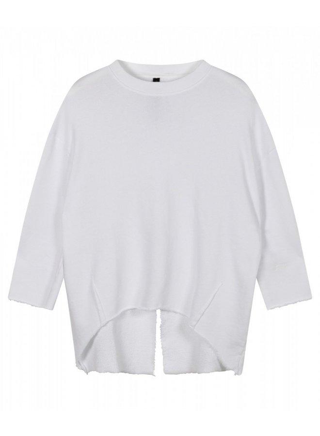 Sweater split white