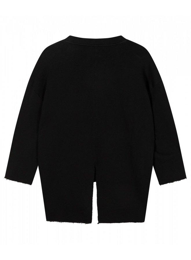 Sweater split black