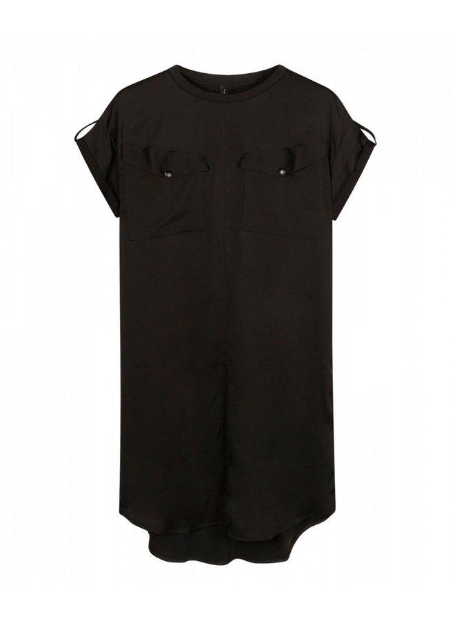 Dress shiny black