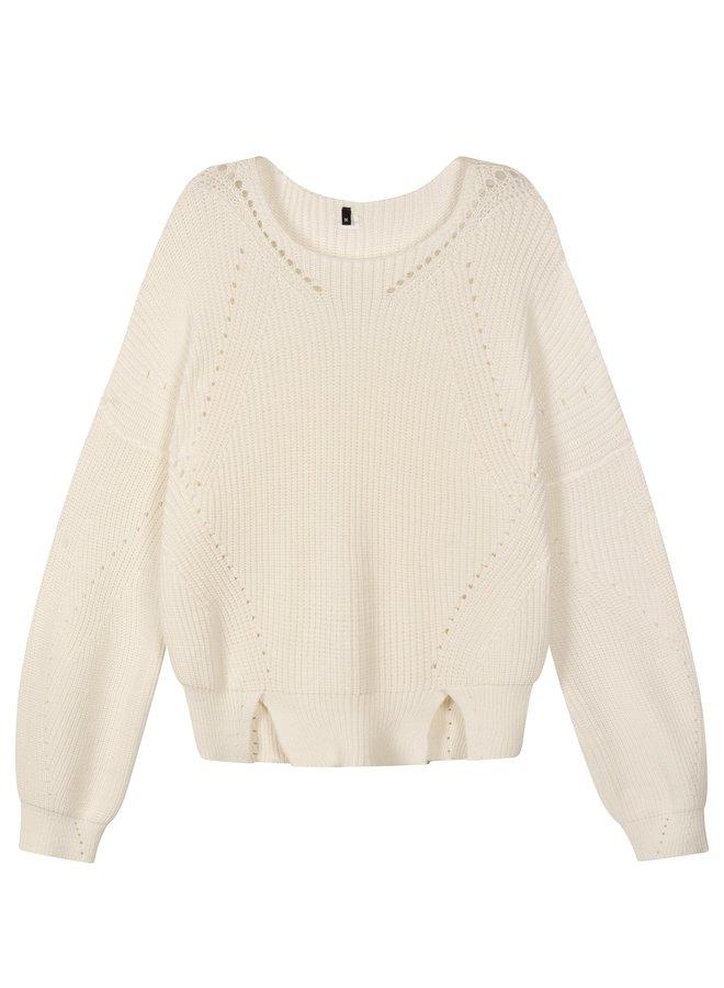 Sweater cotton knit white