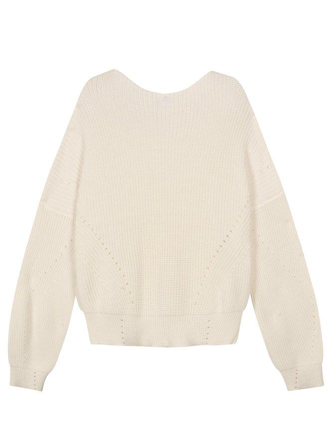 Sweater cotton knit white - 206101201-1001