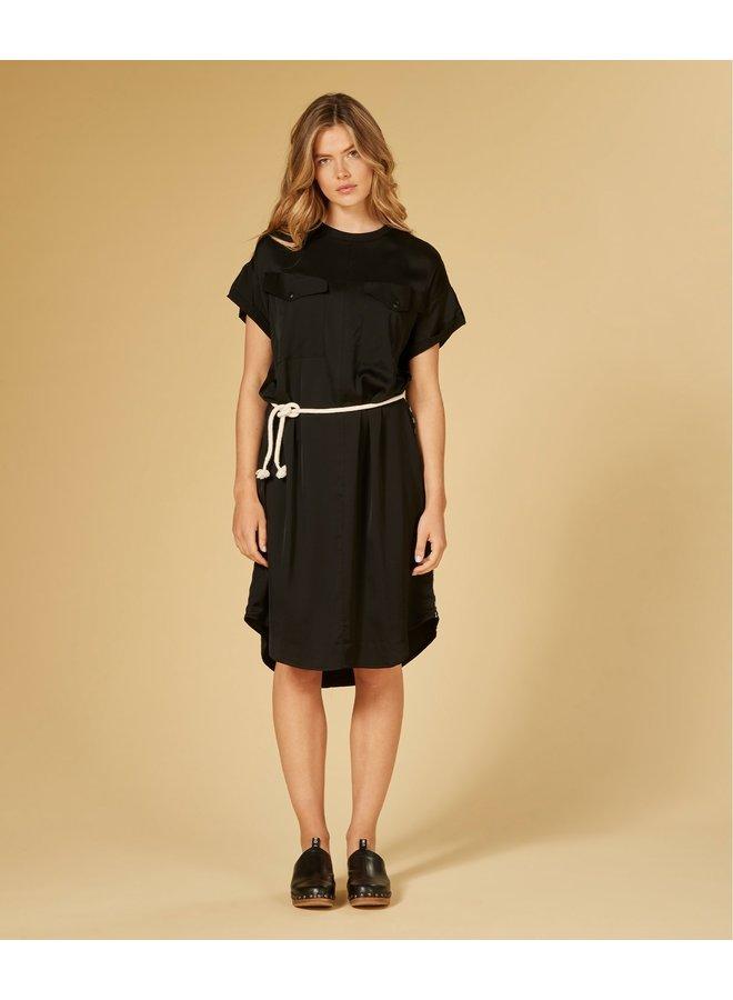 Dress shiny black -203041201-1012