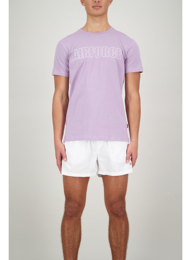 Logo tee s/s lavender frost