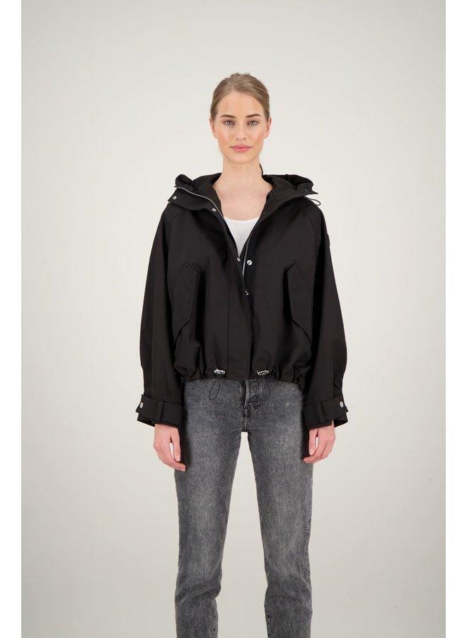 Oversized softshell jacket true black