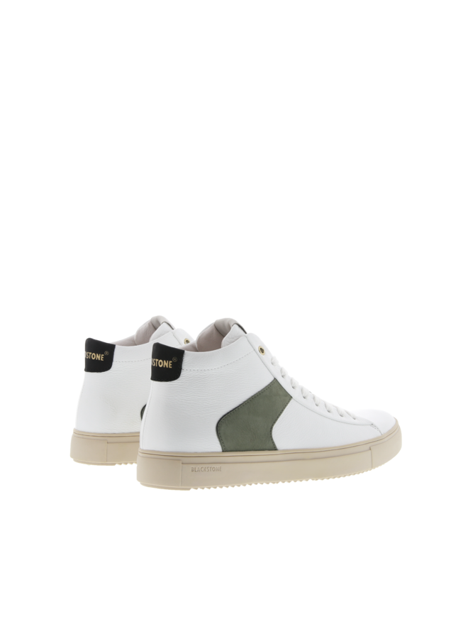 Shoe VG08 white dark green - VG08-WHITE
