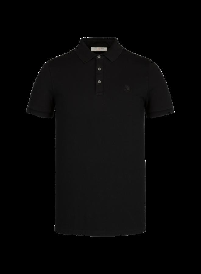 Short Sleeve Polo Light Pique Stretch - Black