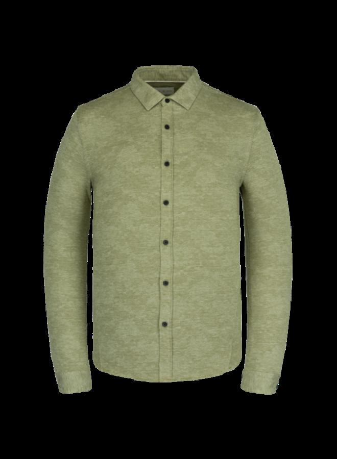 Long Sleeve Shirt Jersey Pique Jacquard - Avocado
