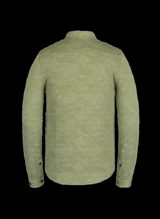 Long Sleeve Shirt Jersey Pique Jacquard - Avocado - CSI211202-6402