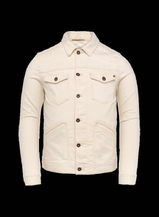 Denim Jacket Ecru Trucker Jacket - White Denim