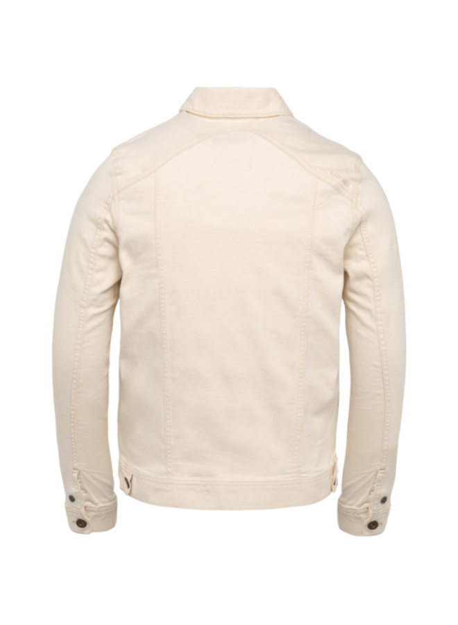 Denim Jacket Ecru Trucker Jacket - White Denim - CDJ211101-WDN