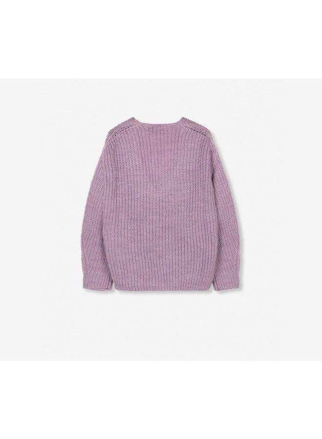 V-neck pullover lila 207869416
