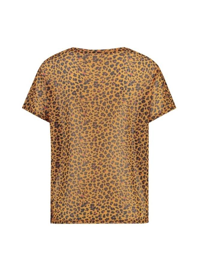 T-shirt golden cheetah