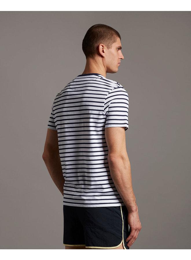 Breton Stripe T-shirt Navy/ White- TS508VB-Z629
