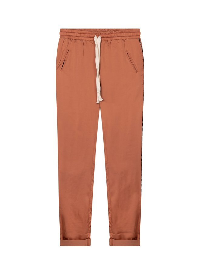Easy pant shiny copper brown