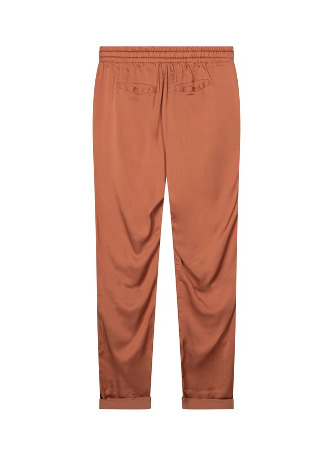 Easy pant shiny copper brown - 200141201-1094