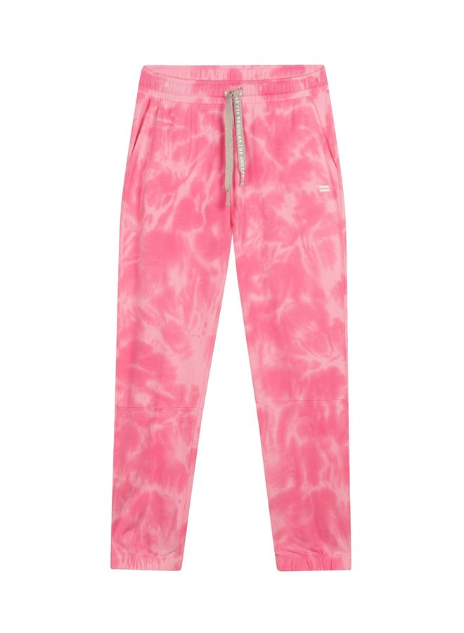 Cropped joger tie dye candy pink