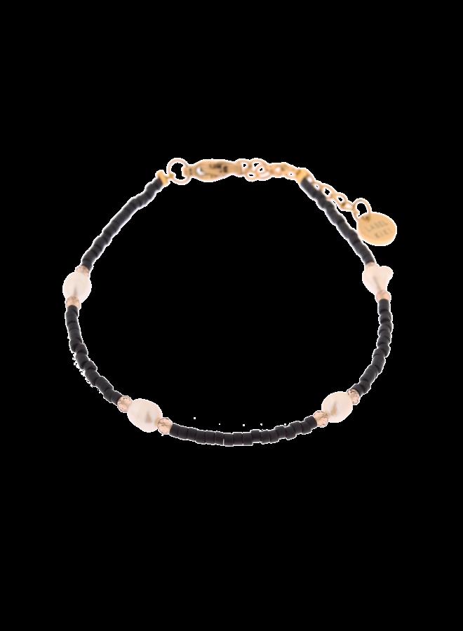 Black Pearl Bracelet Gold - KSA721-GOLD