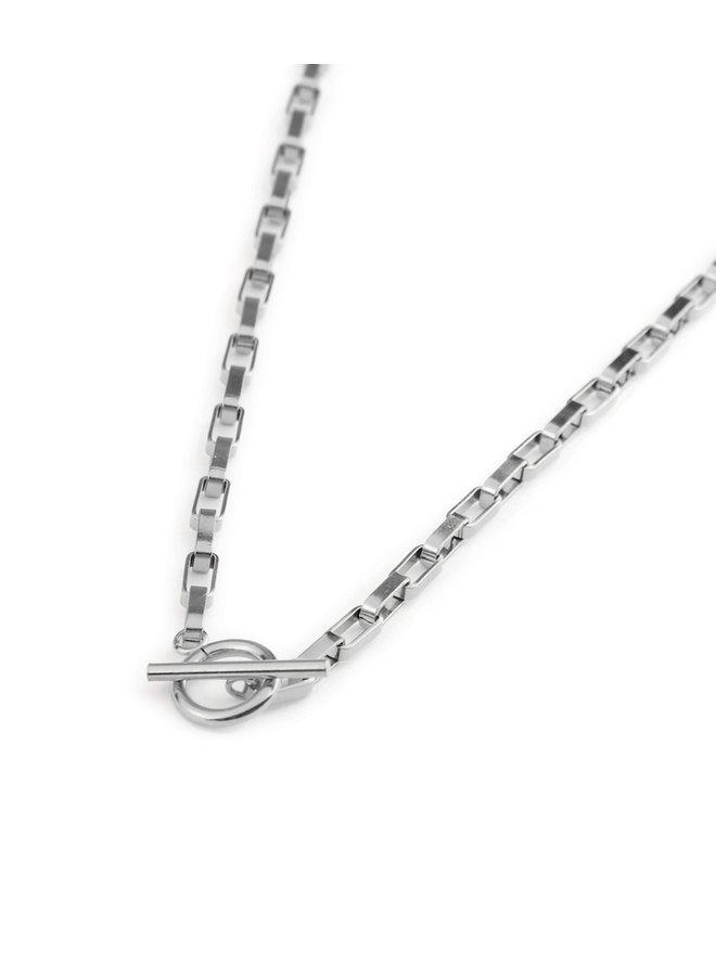 Big Chain Necklace Silver - KSA172-SILVER