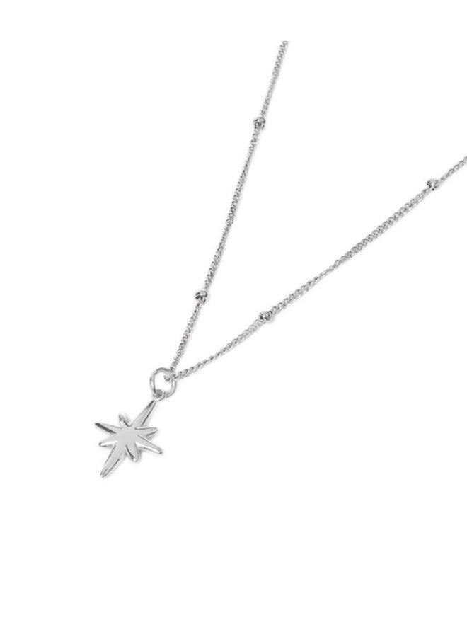 Big Star Necklace Silver - KSK142-Silver