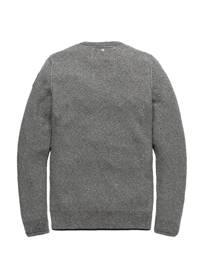 Crewneck Cotton Mouline Grey Melee - PKW196302-960