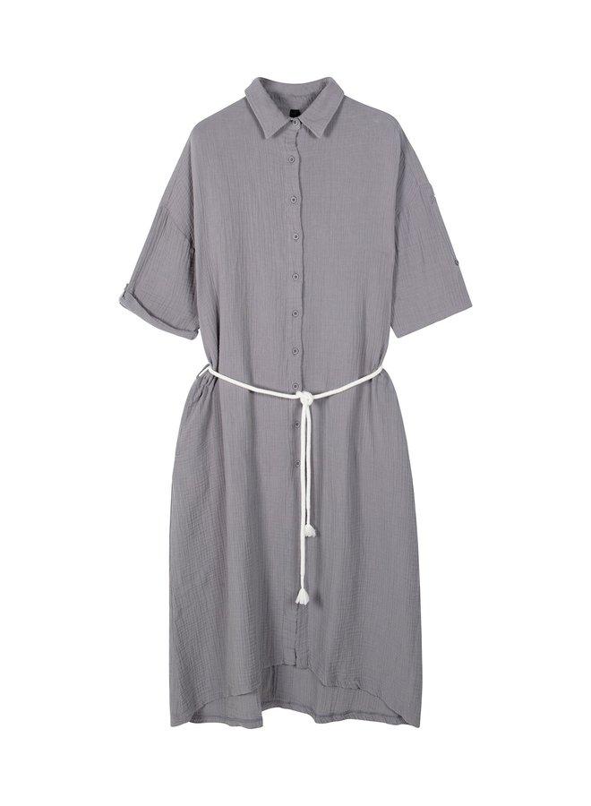Dress crinkle silver grey