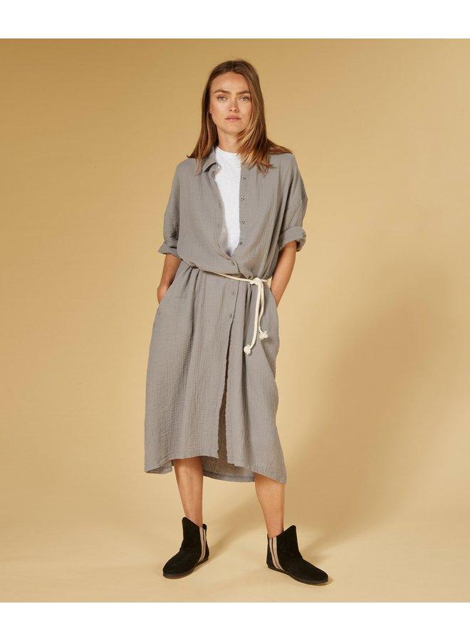 Dress crinkle silver grey -203371201-1045