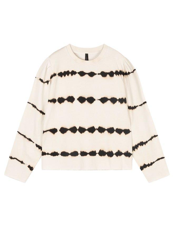 butterfly sweater tie dye silver white