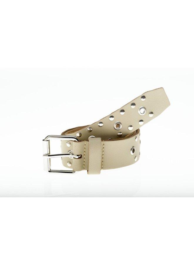 Belt studs beige silver