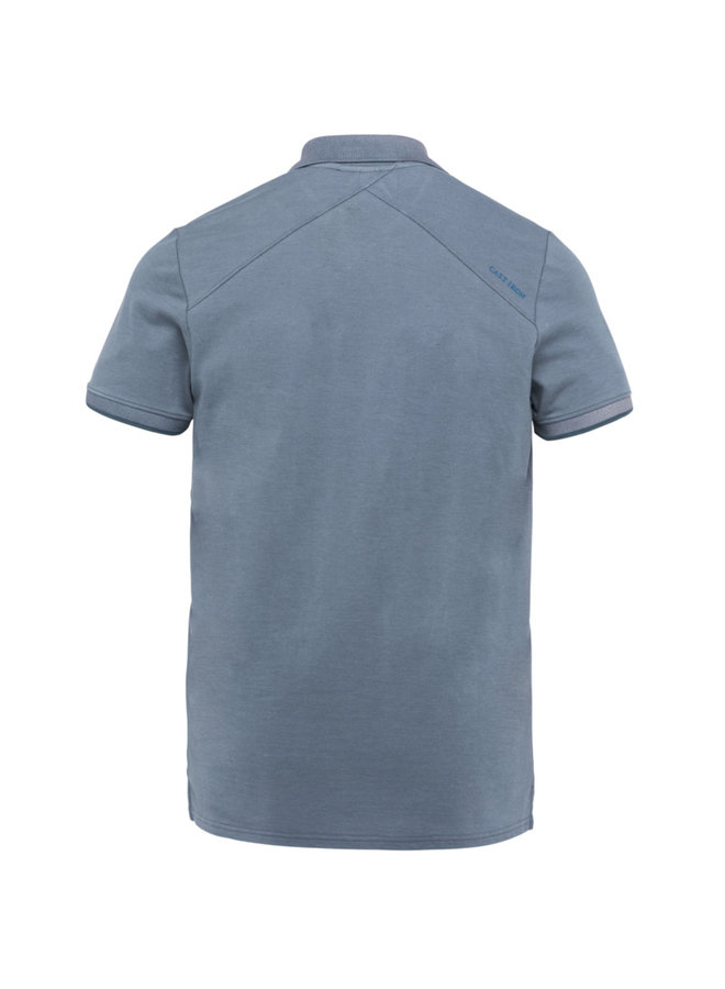 Short Sleeve Polo Lyocell Blend - Stormy Weather - CPSS212860-9096