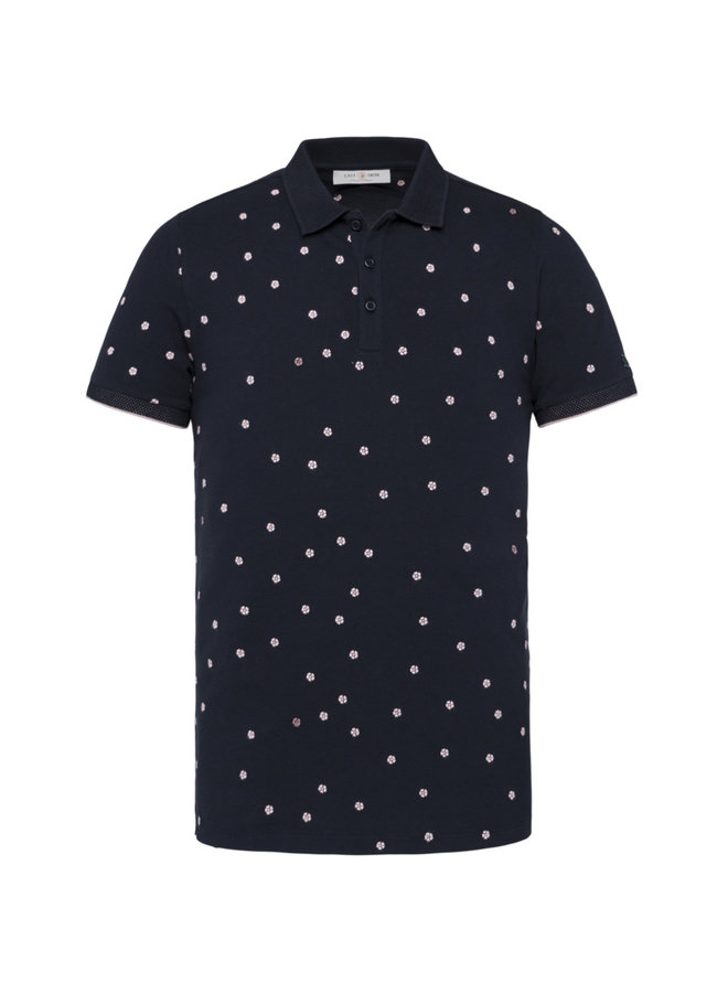 Short Sleeve Polo Mini Pique Stretch - Dark Sapphire - CPSS212858-5287