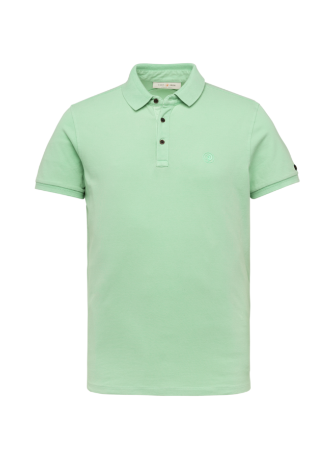 Polo Slim Fit Light Pique Stretch - Ocean Wave