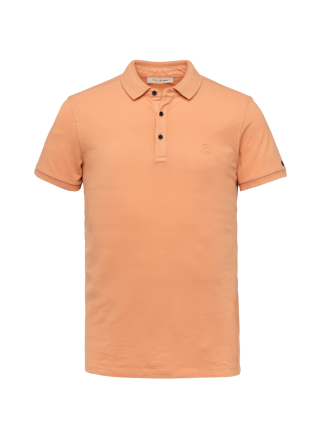 Short Sleeve Polo Slim Fit Light Pique Stretch - Dusty Coral