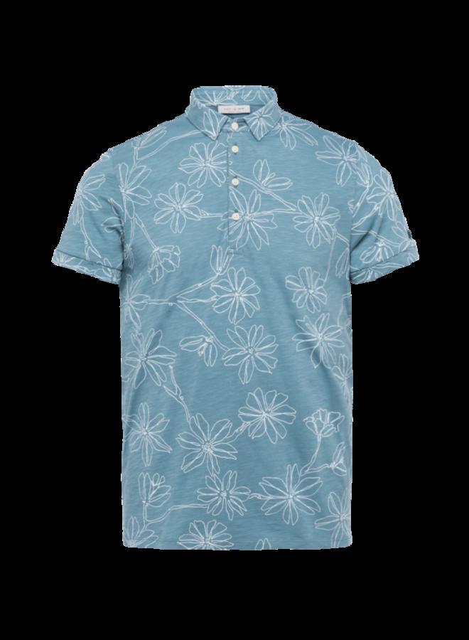 Short Sleeve Polo Slub Jersey - Citadel