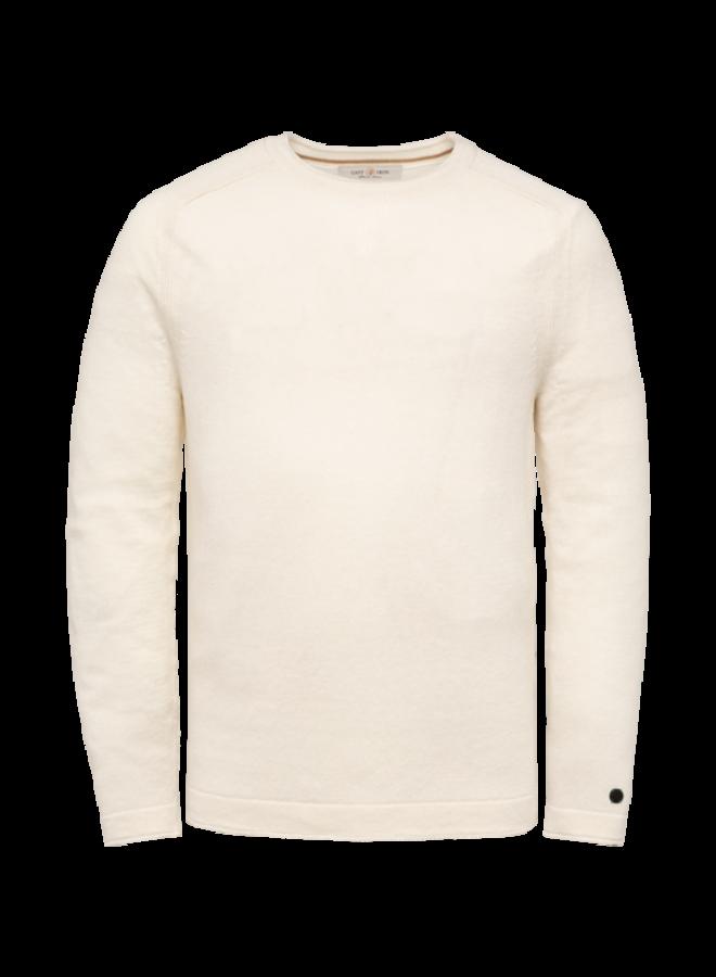 R-Neck Slim Fit Linen - Bright White - CKW213320-7003