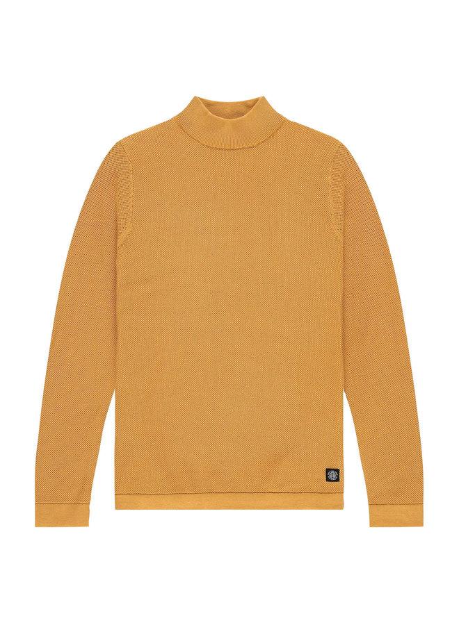 Mixed mock knit honey yellow