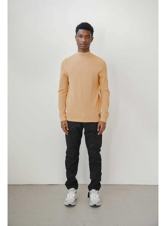 Mixed mock knit honey yellow - 2101040806-572