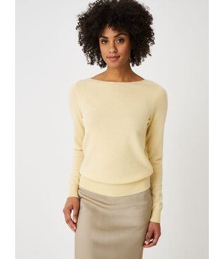 REPEAT cashmere Cashmere sweater boothals vanilla