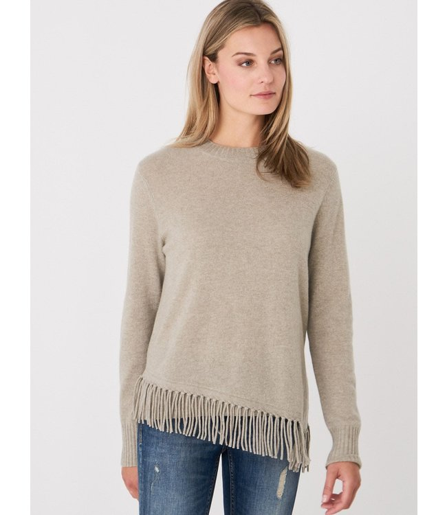 REPEAT cashmere Cashmere sweater franje pepper
